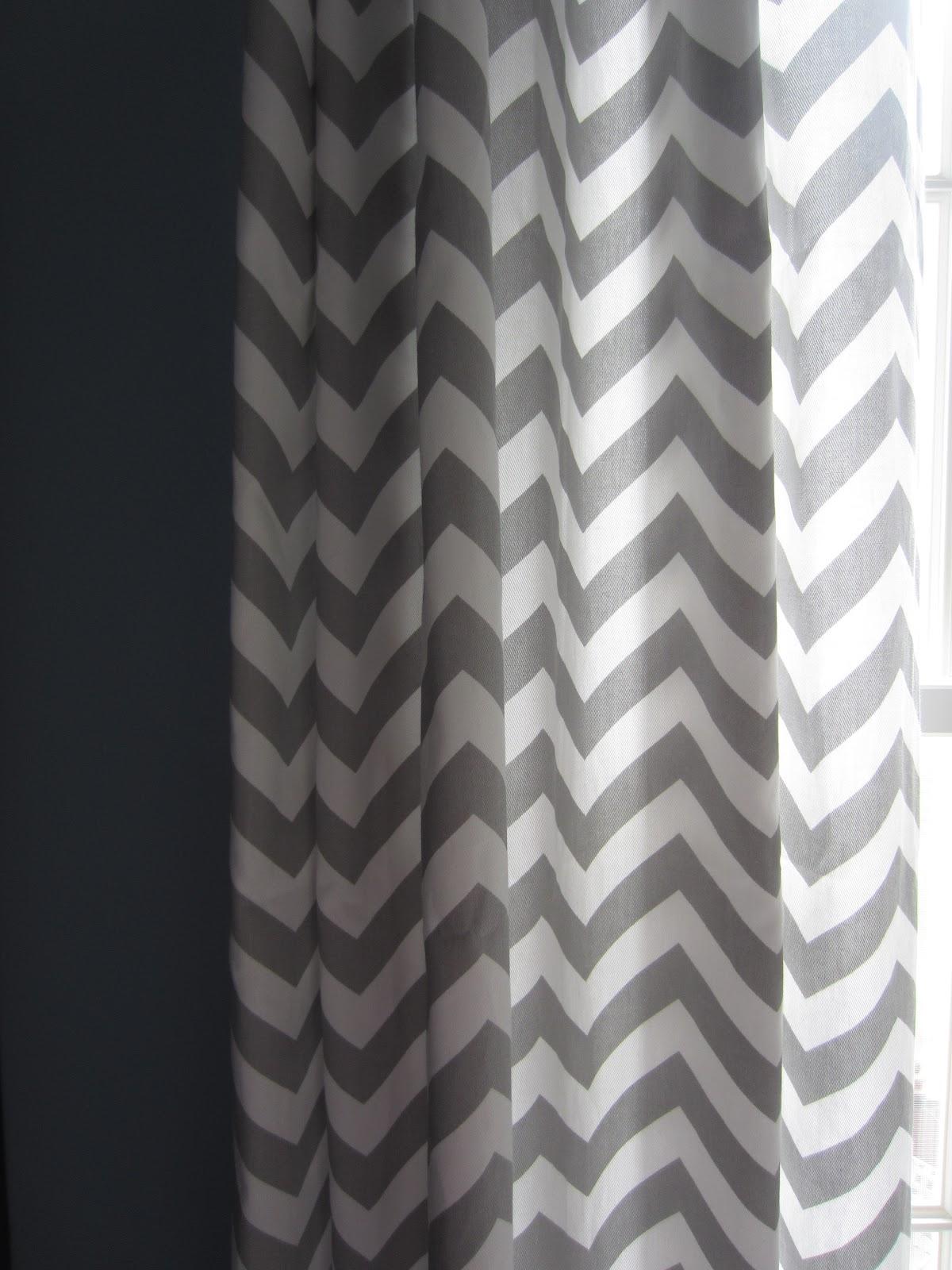 Black and white chevron curtain - Updated