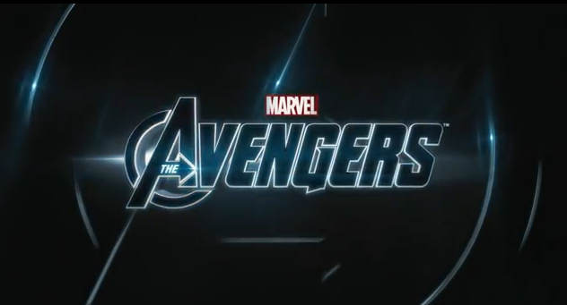 The Avengers 2012 super hero movie title from Marvel Studios distributed by Walt Disney Pictures