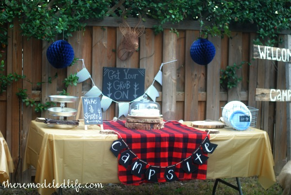 The Remodeled Life A Backyard Camp Birthday Party DIY Ideas