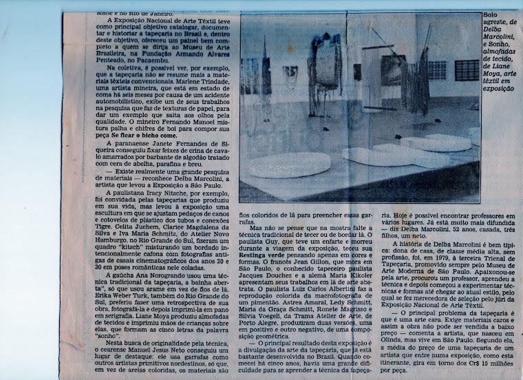 Artigo: 2a_parte-Um rico painel da arte têxtil.Evento Têxtil/ 85, na FAAP, São_Paulo, 1986.