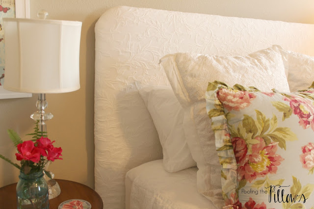 Cottage guest room completed at Poofing the Pillows as part of the One Room Challenge at Calling it Home