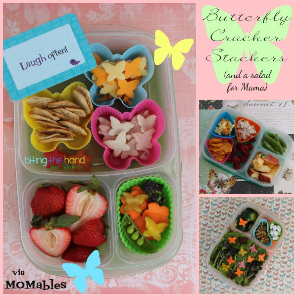 Fun butterfly lunches for Mama and both girls!
