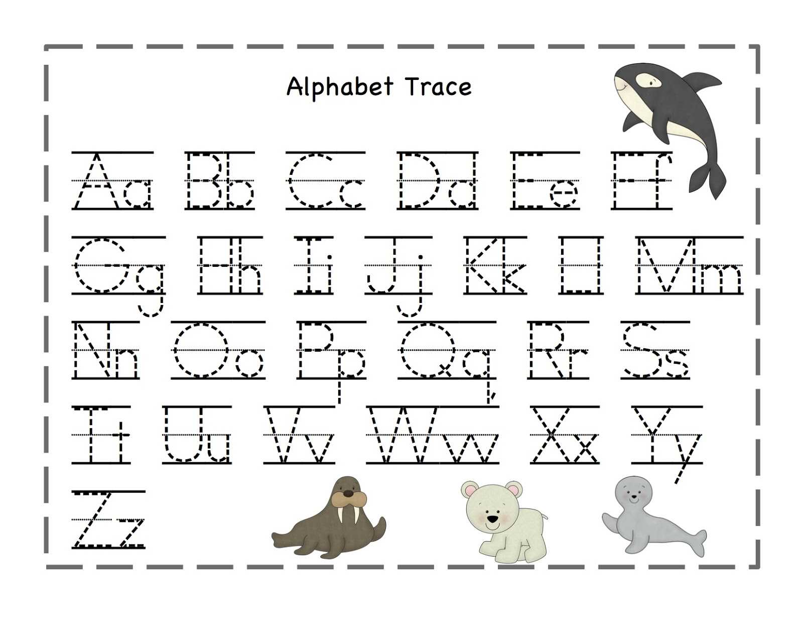 Dynamic image for alphabet line printable
