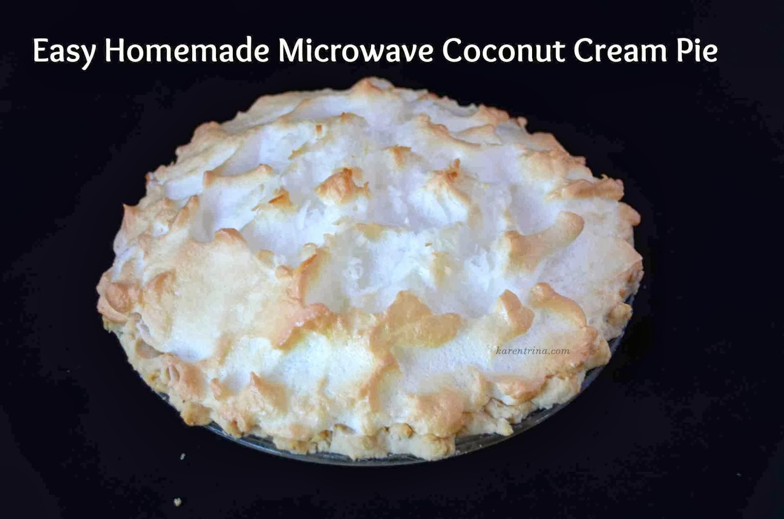 Micrwave coconut pie