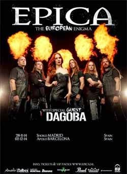 Conciertos de Epica y Dagoba en noviembre en Madrid y diciembre en Barcelona