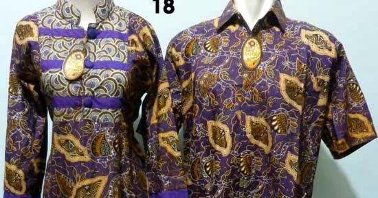 Gamis Batik Couple Ungu