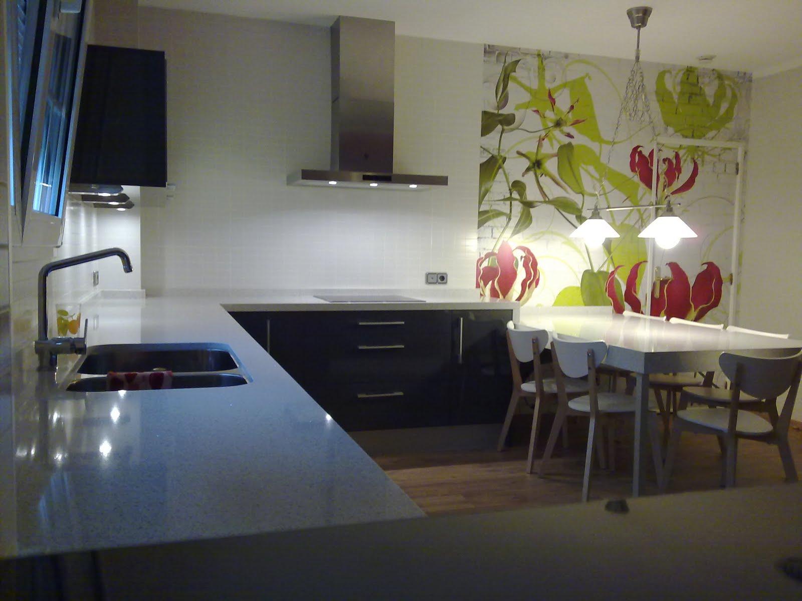 Cocina con fotomural - Fotomural para cocina ...