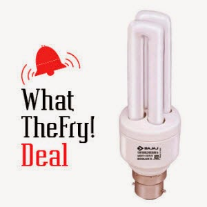 Pepperfry : Bajaj Ecolux 2U CFL 15 w Rs.87 + pepperfry cashback from buytoearn