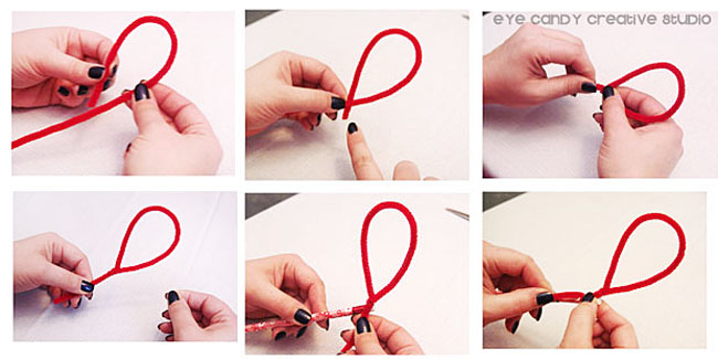 how to make a pipe cleaner heart, pencil topper made with pipe cleaner
