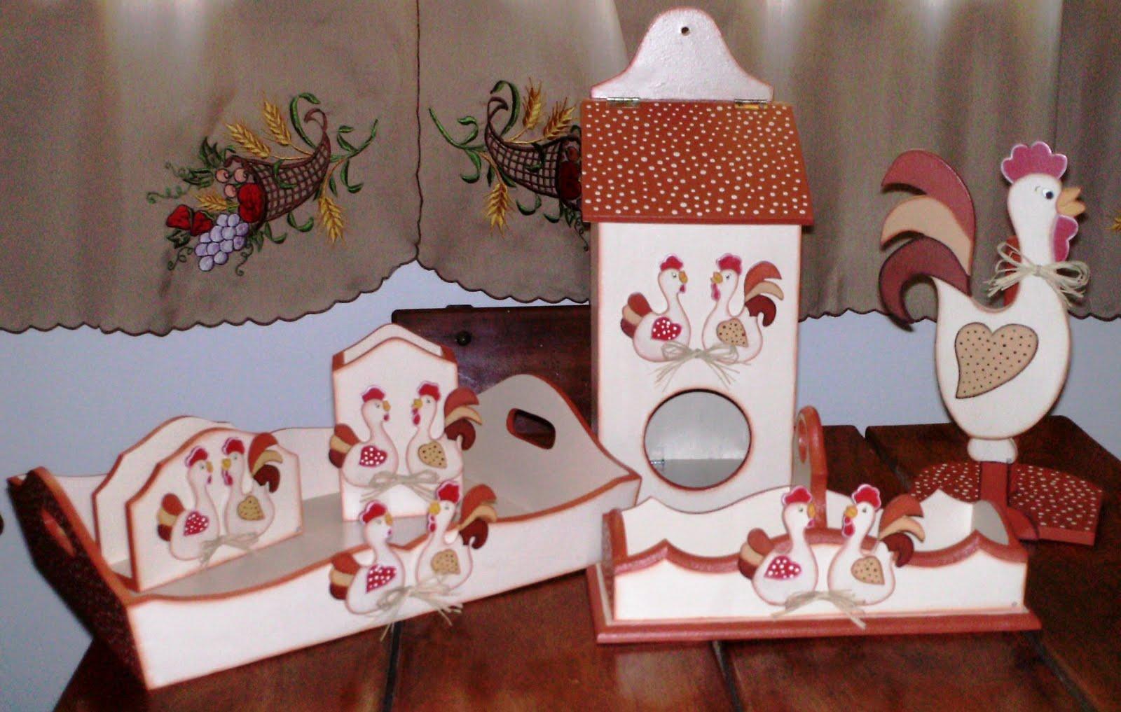Artesanato Facil E Lucrativo ~ Artesanato da Gisa Kit de cozinha em madeira