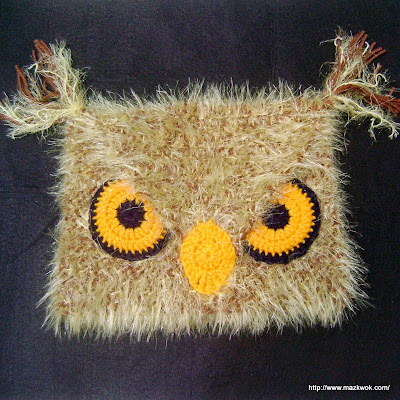 crochet angry owl hat