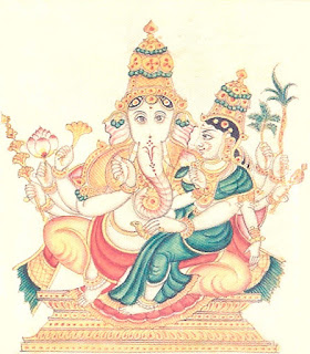 Picture of Urdhva Ganapati Form of Lord Ganesh