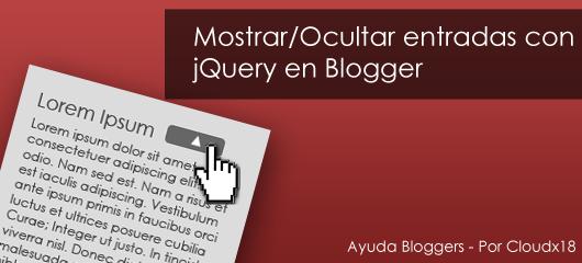 Expandir/Contraer entradas con jQuery en Blogger