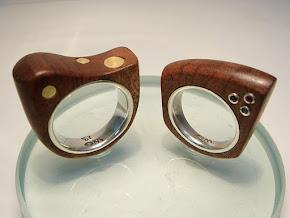 Anéis de madeira de demolição