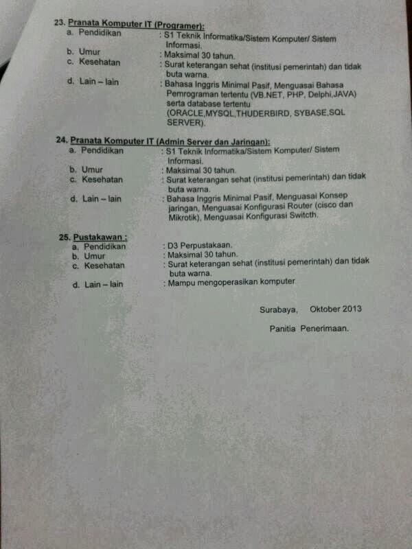 Rekrutment Pegawai BLUS NON PNS RSUD Dr. Soetomo Jawa Timur Tahun 2013 http://indonersiacenter.blogspot.com/
