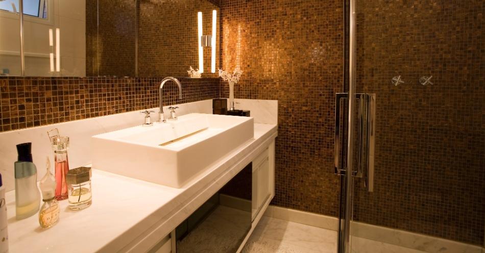 40 Bancadas de banheiroslavabos – veja modelos modernos e maravilhosos!  De -> Decoracao De Banheiro Com Louca Preta