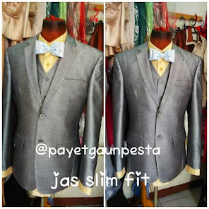 Jas Pengantin Slim Fit Silver Grey