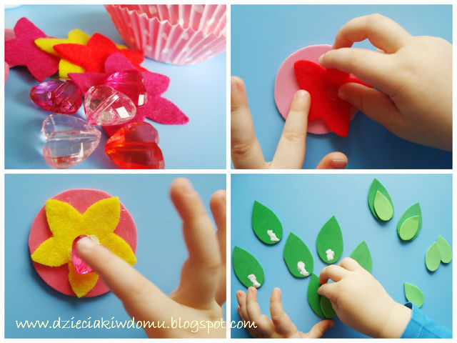 kwiatek z papilotek do mufinek na dzień babci, laurka dla babci