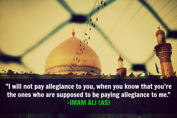 I will not pay allegiance to you, when you know that you're the once who are supposed to be paying allegiance to me.