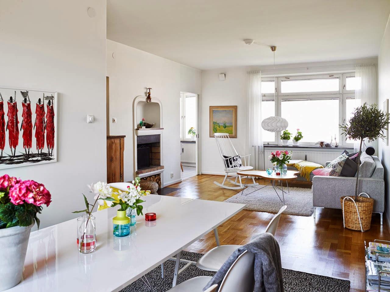 Inspiraci n deco casas con color y de estilo n rdico tr s studio blog de decoraci n - Casas muy pequenas ...