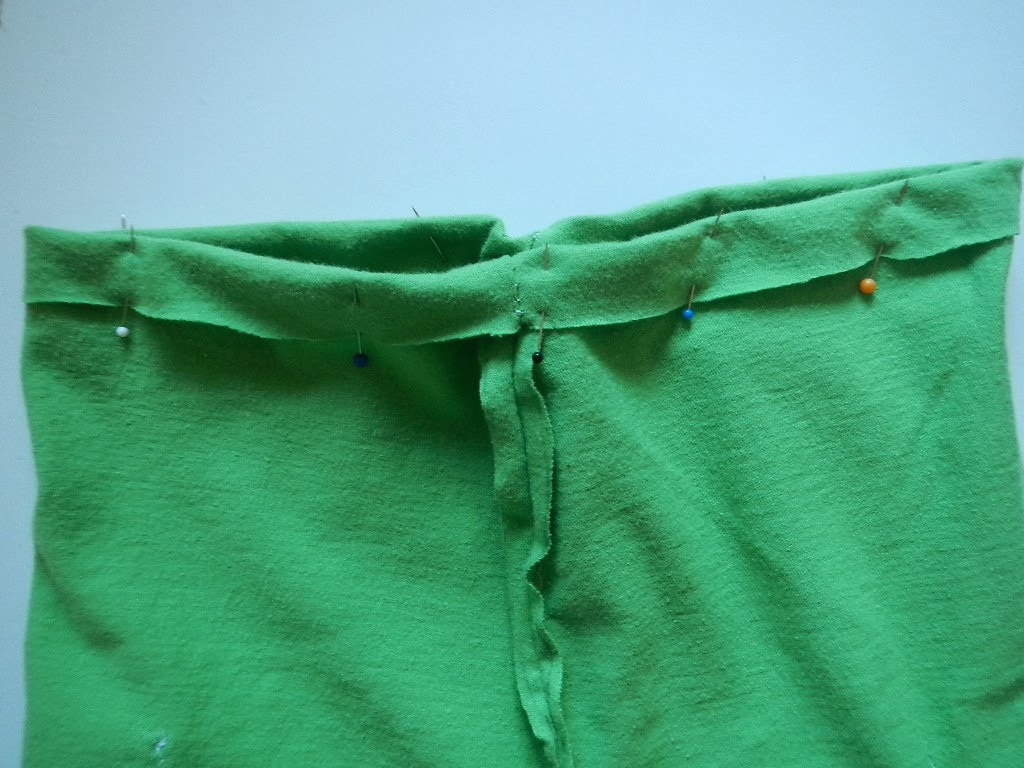 how to sew the waistband in a pair of baby toddler pants