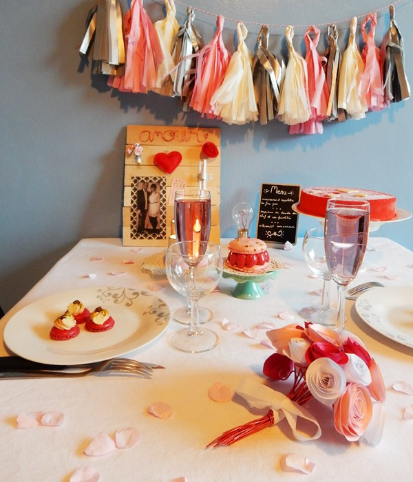 D co de table saint valentin caro dels blog diy et for Deco table st valentin