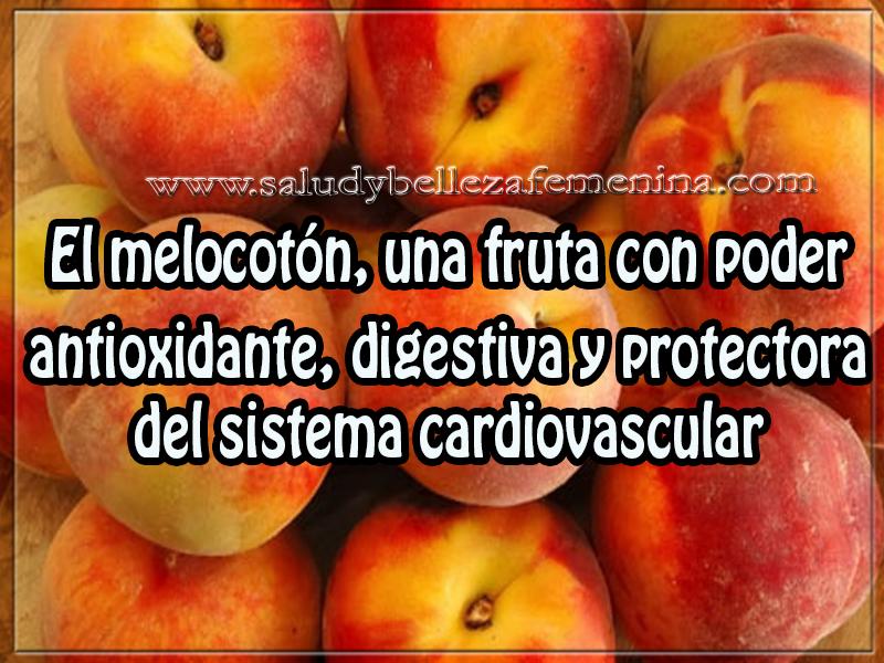 Salud y nutrición, el melocotón, una fruta con poder antioxidante, digestiva