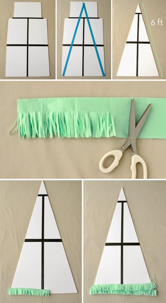 diy rbol de navidad con papel seda