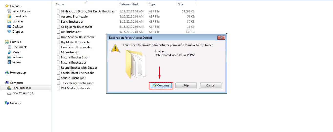... laptop untuk memasukkan file ke dalam file sistem dari software Adobe