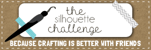 Silhouette Challenge Facebook Group Logo, The silhouette challenge, Because Crafting Is Better With Friends