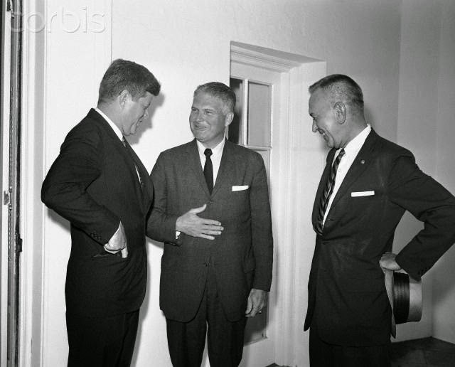 JFK, Chief Rowley, outgoing Chief Baughman 8/1/61