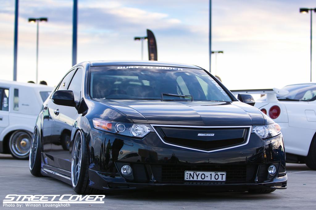 Honda Accord (Acura TSX) CU2, badass, czarny, japońskie sedany, samochody z ciekawym designem, JDM, fotki, czarna, nuotraukos