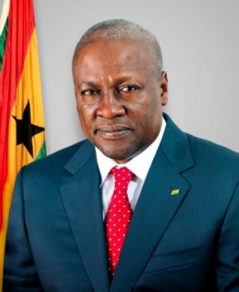 Ghanaian President John Dramani Mahama
