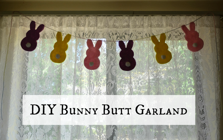 DIY Bunny Butt Garland