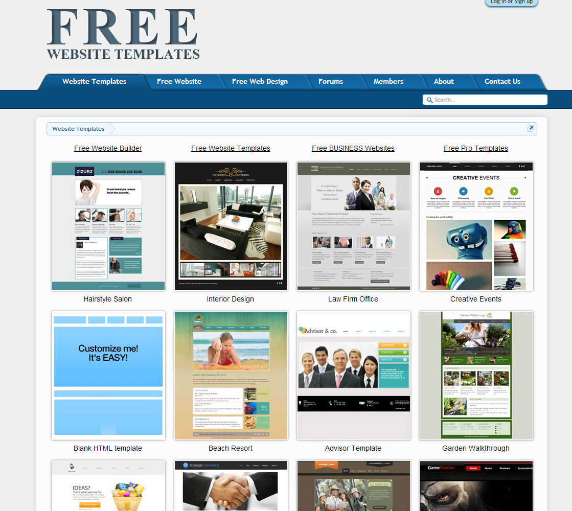 Freewebsitetemplates