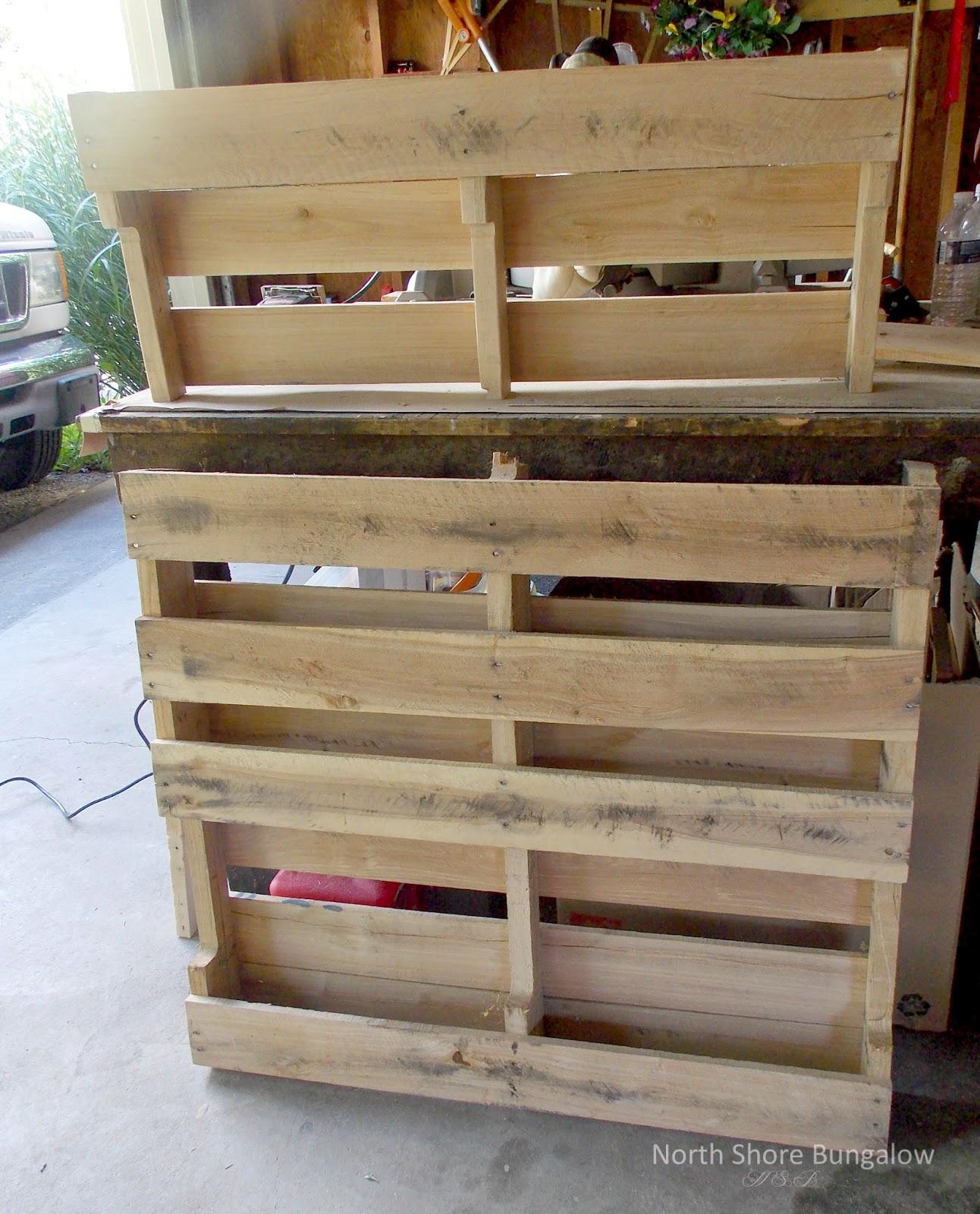 North Shore Bungalow DIY Wood Pallet Coat Rack