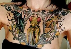 Melhores fotos tatuagens de animais - gafanhoto