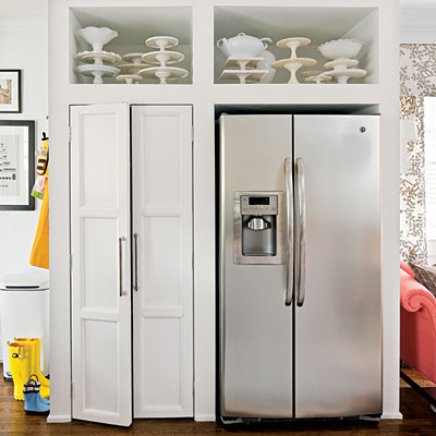 A Built In Pantry With Double Door Is Designed To Echo The Look Of Side By Refrigerator Achieve Symmetry
