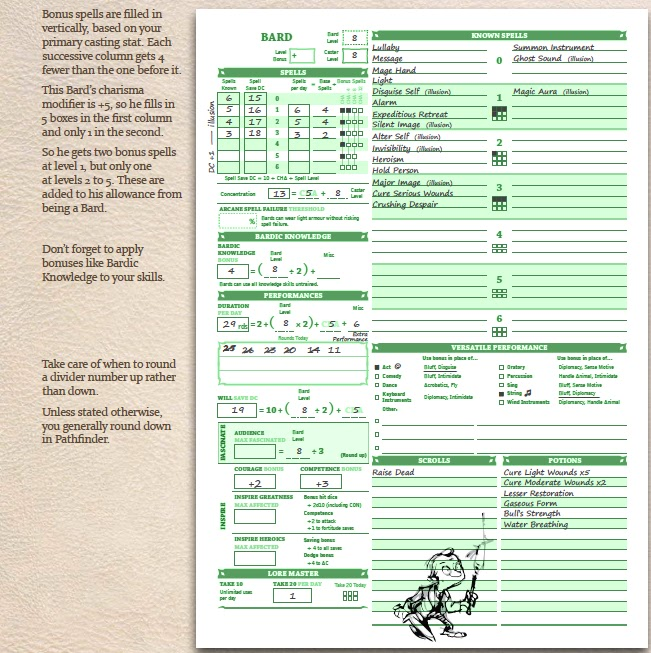 graphic regarding Pathfinder Printable Character Sheet titled Pathfinder wizard personality sheet pdf