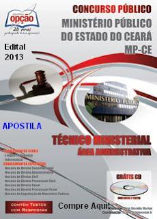 Apostila MP do CEARÁ - Cargo Técnico Ministerial - Área Administrativa (2013)
