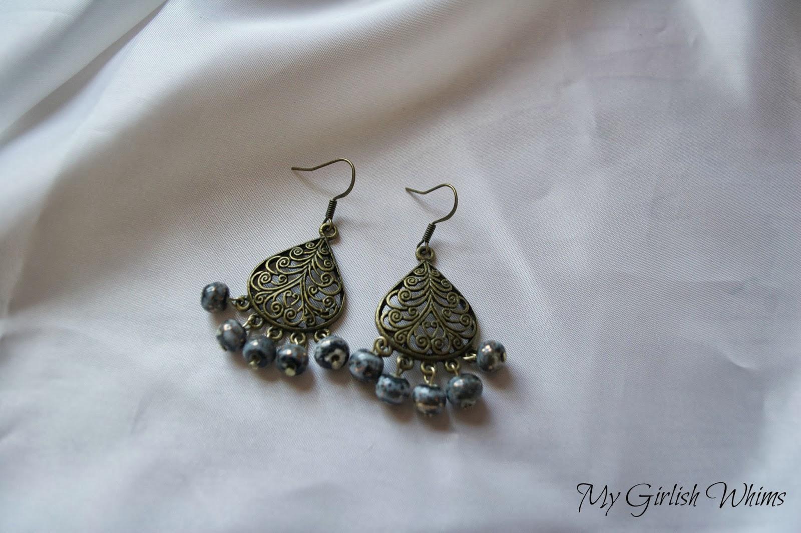DIY Easy Chandelier Earrings - My Girlish Whims