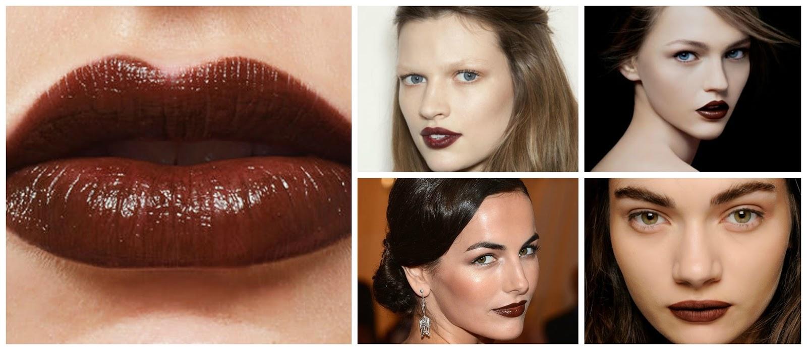 collage lips brown lipstick