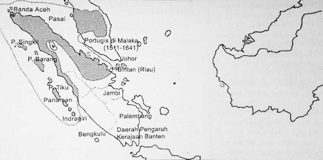 Map of the location of Samudera Pasai kingdom