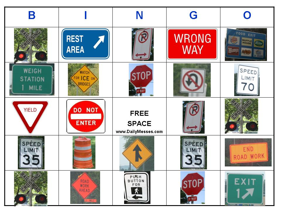 It's just a photo of Ridiculous Car Bingo Cards