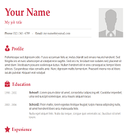 Resume Template Example 6 Crimson Titles Classic Basic Resume