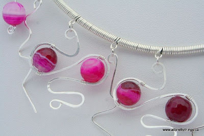 Fuchsia and Sterling Silver (wire wrapping) :: All Pretty Things