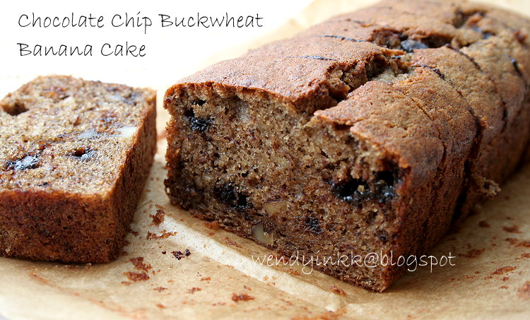 Table for 2.... or more: Chocolate Chip Buckwheat Banana Cake