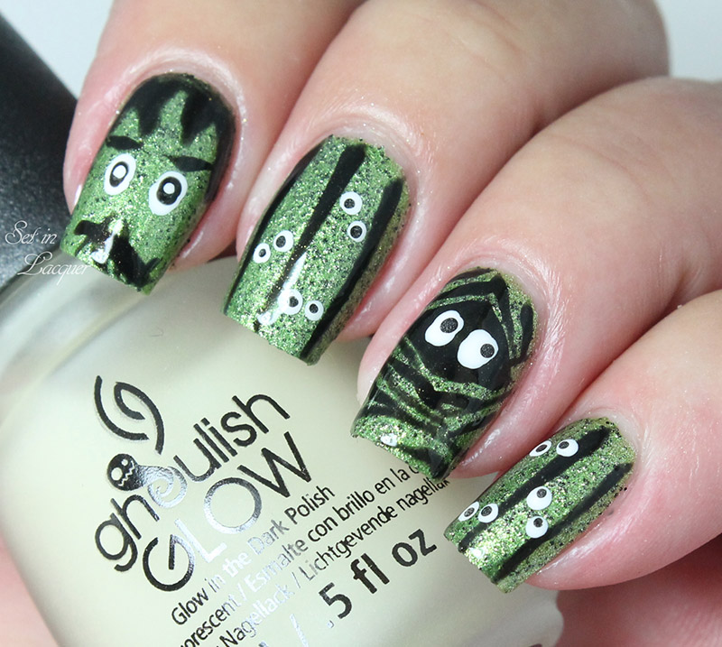 Glow in the dark nail art