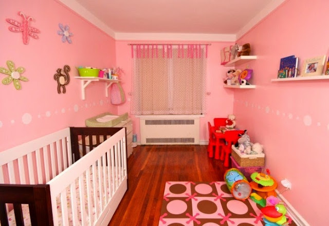 baby girl nursery wall painting ideas