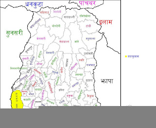 Map of morang district